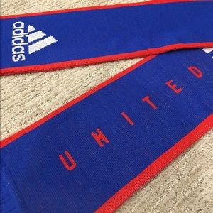 Adidas: USA Red White Blue Winter Reversible Scarf